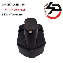 Marque nouveau 2.0Ah 12 V NI-CD power tool batterie de remplacement pour Hitachi: EB1214S, FWH12DF, EB1220HL, DS12DVF2, EB1220HS, WH12DM2, EB1230X