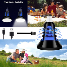 Indoor E27 LED Anti Mosquito Killer Lamp 220V Outdoor USB 5V Bulbs Electric Trap Light 110V Two Modes 2 in 1