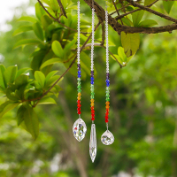 H&D 63/38/20mm Chakra Crystal Ball Chandelier Prisms Pendants Parts 3pcs/set Suncatcher Rainbow Maker Hanging Drop Home Ornament 3