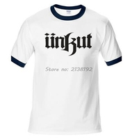 Unkut UKT Hombre Camiseta Raglan Manga Impreso Mens de La Marca de Moda Homme Hombres de La Camiseta Tops Tees Nueva Algodón Divertido regalo tops