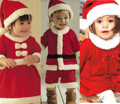 9950e601b The new high quality 2 4 year old girl dressed up for Christmas Santa Claus suit  boy fashion show clothes Set Free Shipping-in Clothing Sets from Mother ...