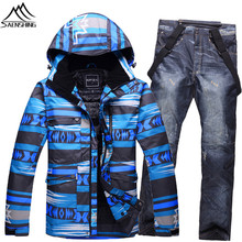 Brand Cheap Ski Suit Windproof Waterproof Ski Suit Men Thicken Warmth Snowboard Jacket And Pants Skiing And Snowboarding Clothes
