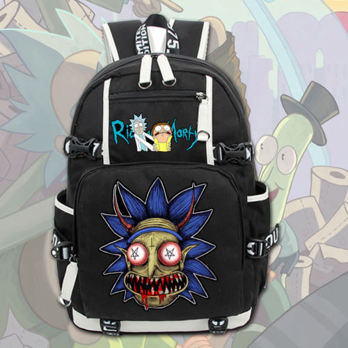 2018 New Rick and Morty Backpack Fashion Cartoon Rucksack Students School Bags Bookbag Laptop Travel Bags 3 7v lithium polymer battery 353560 830mah mp4 mp5 psp consoles gps navigator