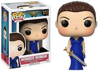 Exclusive Funko pop Official DC Heroes Wonder Woman #177 (Blue Dress) Action Figure Collectible Model Toy with Original Box