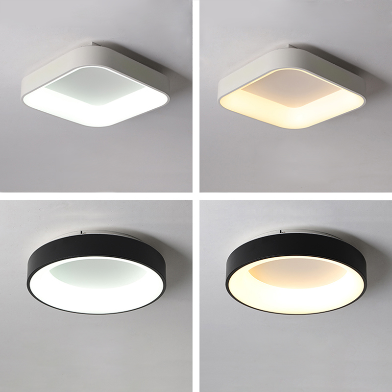 Surface mounted Round/Square Modern LED Ceiling Lights For Living room Bedroom lamparas de techo Ceiling Lamp Lighting FixturesSurface mounted Round/Square Modern LED Ceiling Lights For Living room Bedroom lamparas de techo Ceiling Lamp Lighting Fixtures