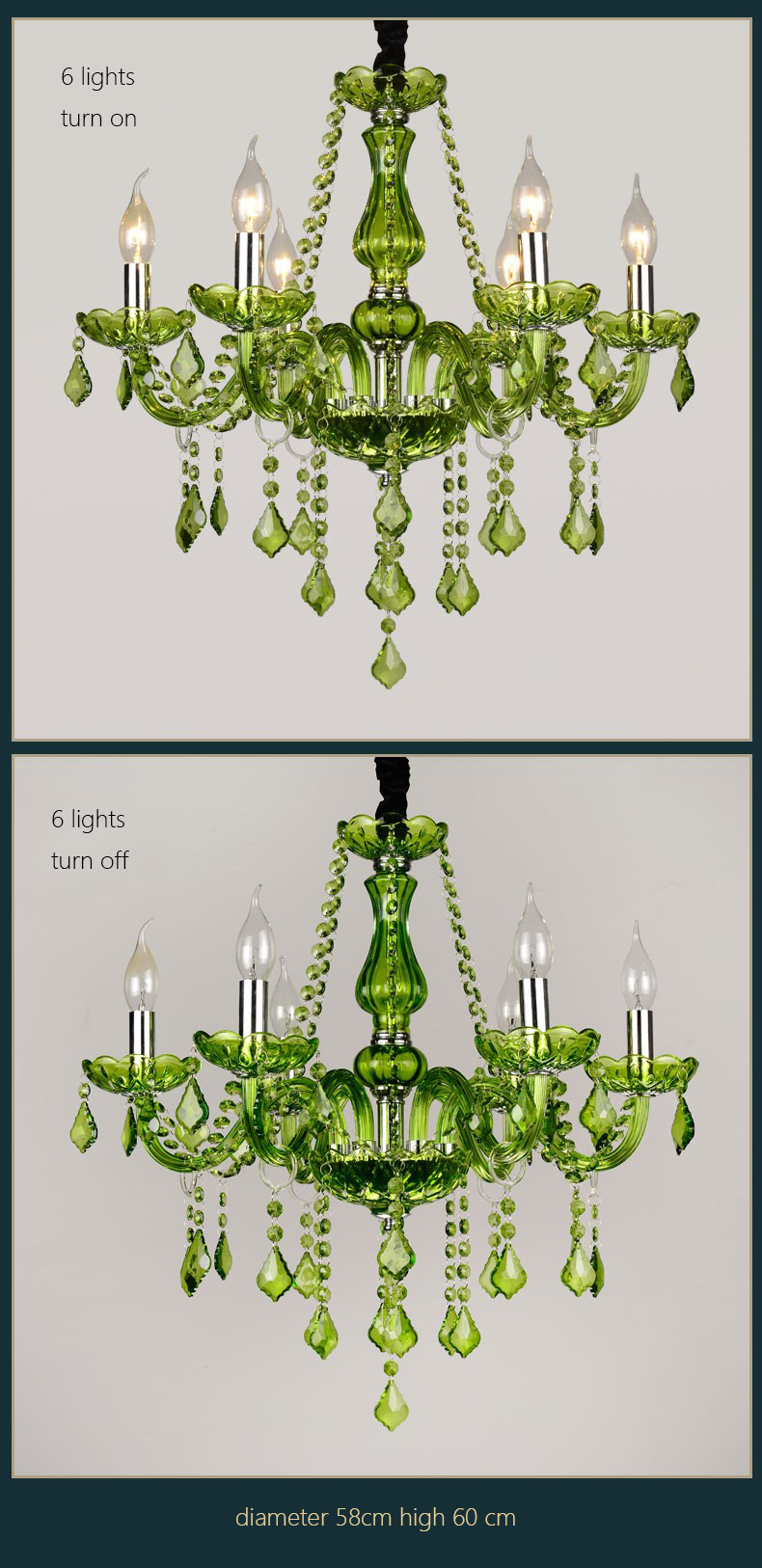 green crystal chandelier lustre crystal chandelier 68101215 green crystal chandelier lustre crystal chandelier 6810121518 arm optional lustres de cristal chandelier green living room arubaitofo Image collections