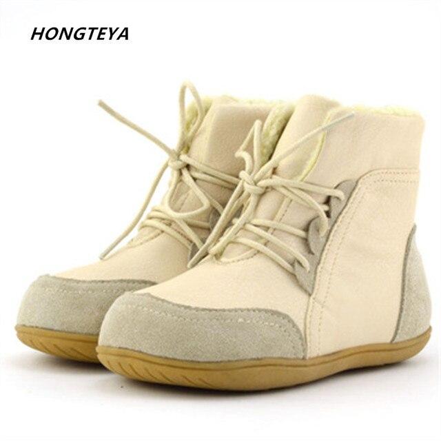 new style bc5bd d89bb Winter boot Marke Echt Ziegenfell Baby Jungen Schnee Stiefel Kinder Schuhe  Geanuine Leder Australien Knöchel stiefel