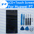 Для Huawei P7 ЖК-ДИСПЛЕЙ + Сенсорный Экран 100% Новый Дисплей Планшета Стеклянная Панель Замена Для Huawei Ascend P7 5.0 ''Phone