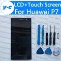 Para huawei p7 100% novo display lcd + de tela de toque digitador substituição do painel de vidro para huawei ascend p7 5.0 telefone''