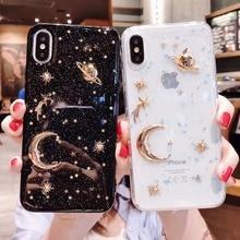 Glitter Starry sky 3D Saturn stars Phone Cases For