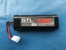 5300mAh 7.2v NiMh GTL Toy Battery Flat Racing car replacement battery for RC Airplane Helicopter Boat ,With Tamiya Connectors nvision 7 2в 4200мач nimh силовой разъем tamiya