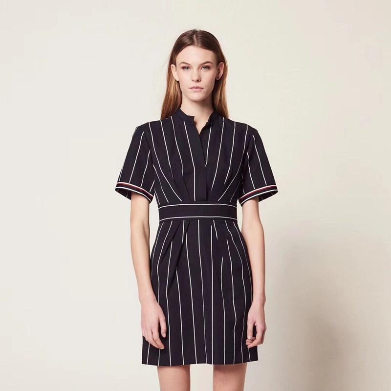 2019 Nuovo Delle Donne Vestito A Righe Slim Fit Manica Corta Estate Mini Vestito-in Abiti da Abbigliamento da donna su  Gruppo 1