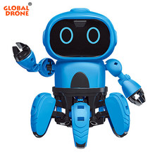 Global Drone GW-SX RC Robot Toy for Boys Children Gesture Control Robot Birthday Gifts Christmas Present Robot for Kids(China)