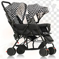2016 Hot Sale Twin Stroller Portable High Landscape Pram Twins Shockproof Twins Pushchair Folding Strollers for Twins C01