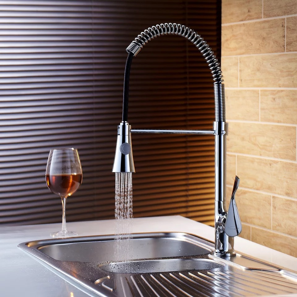 Free shipping New Brass Kitchen Mixer Taps Pull down faucet spray kitchen tap modern style health