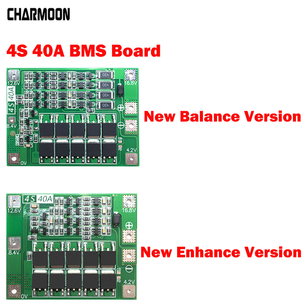 4S 40A Li-ion Lithium Battery Protection Board 18650 Charger PCB BMS For Drill Motor 14.8V 16.8V Enhance/Balance Version Diy Kit