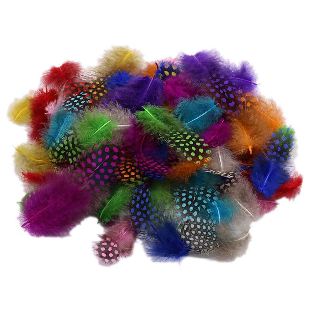 50pcs Mixed Color Simulation feather DIY accessories for headwear decoration, brooch making or other craft projects for retail