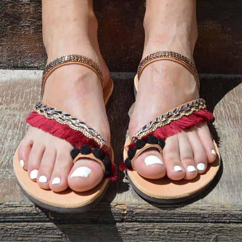 Gladiator Sandals Women Sandals 2019  Suede Tassel Lace Up Flat Sandals For Summer Shoes WomanGladiator Sandals Women Sandals 2019  Suede Tassel Lace Up Flat Sandals For Summer Shoes Woman