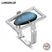 LARGERLOF Ring Silver 925 Women Labradorite Silver Ring Handmade Fine Jewelry 925 Silver Rings For Women RG50119