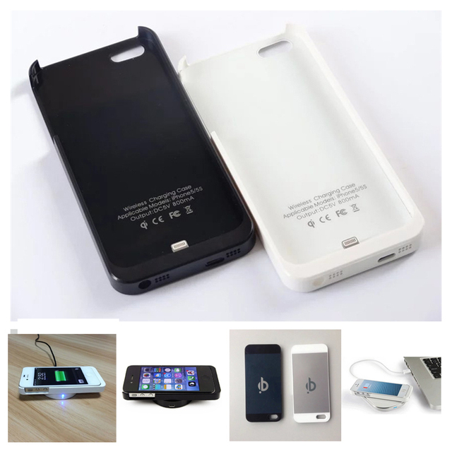 best website 23fc4 b5daa US $5.45 45% OFF|QI Wireless Charger Charging Receiver Cover Case for Apple  iPhone 5 5S SE 6 6S 7 Plus Micro USB Charger Back Cover Shell-in Wireless  ...