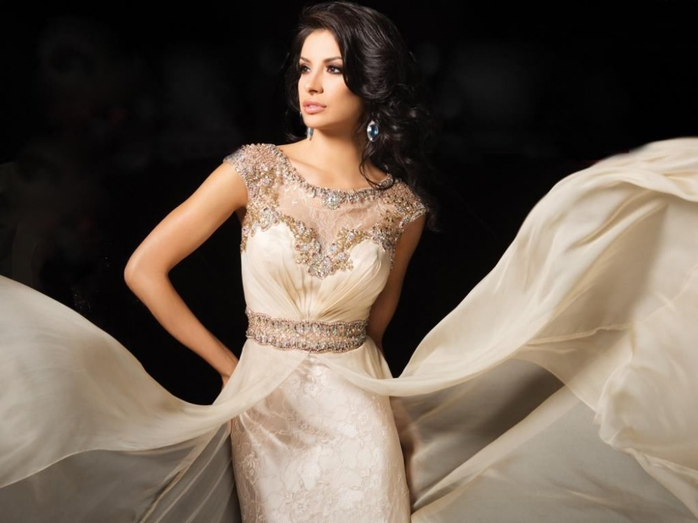 Algodón vestidos novia corto Casual modesto con mangas dama de honor ...