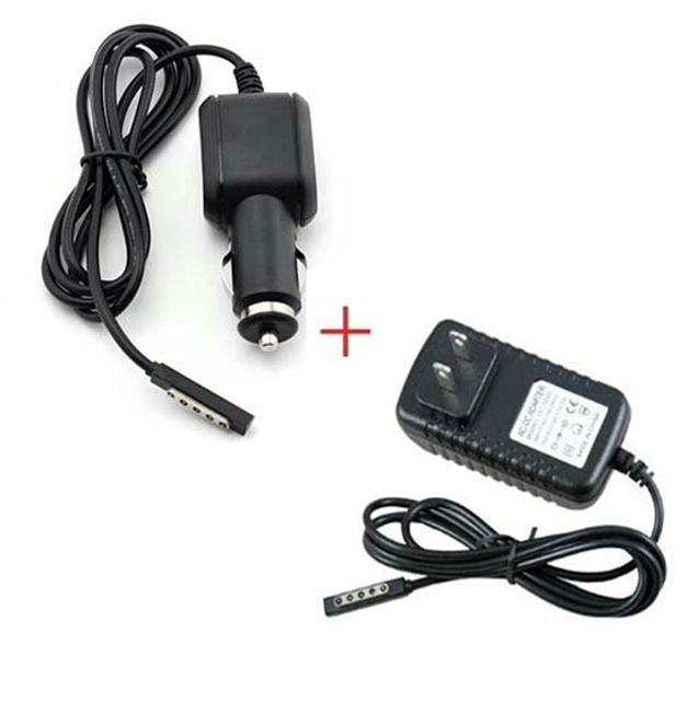 """EU / US Plug AC DC Home Travel Cord + Car Charger Power Supply Adapter For Microsoft Surface RT RT2 Surface2 Pro Pro2 2 10.6"""""""