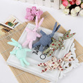 2Pcs/Lot Kawaii Mini Bunny Plush Toys Flower Rabbit Soft Stuffed Animal Toys Small Pendant By Phone Bags Gifts For Wedding 012