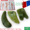 Good quality! Natural Glaze Jade Massage Tool Guasha Board (square+ moon+ triangle shape) 3pieces/set
