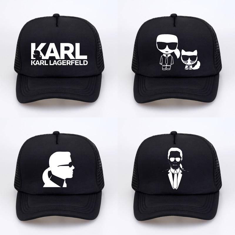 Karl Lagerfeld cap Women Men Print Baseball caps Casual cool Summer Sun Net snapback hats gorras