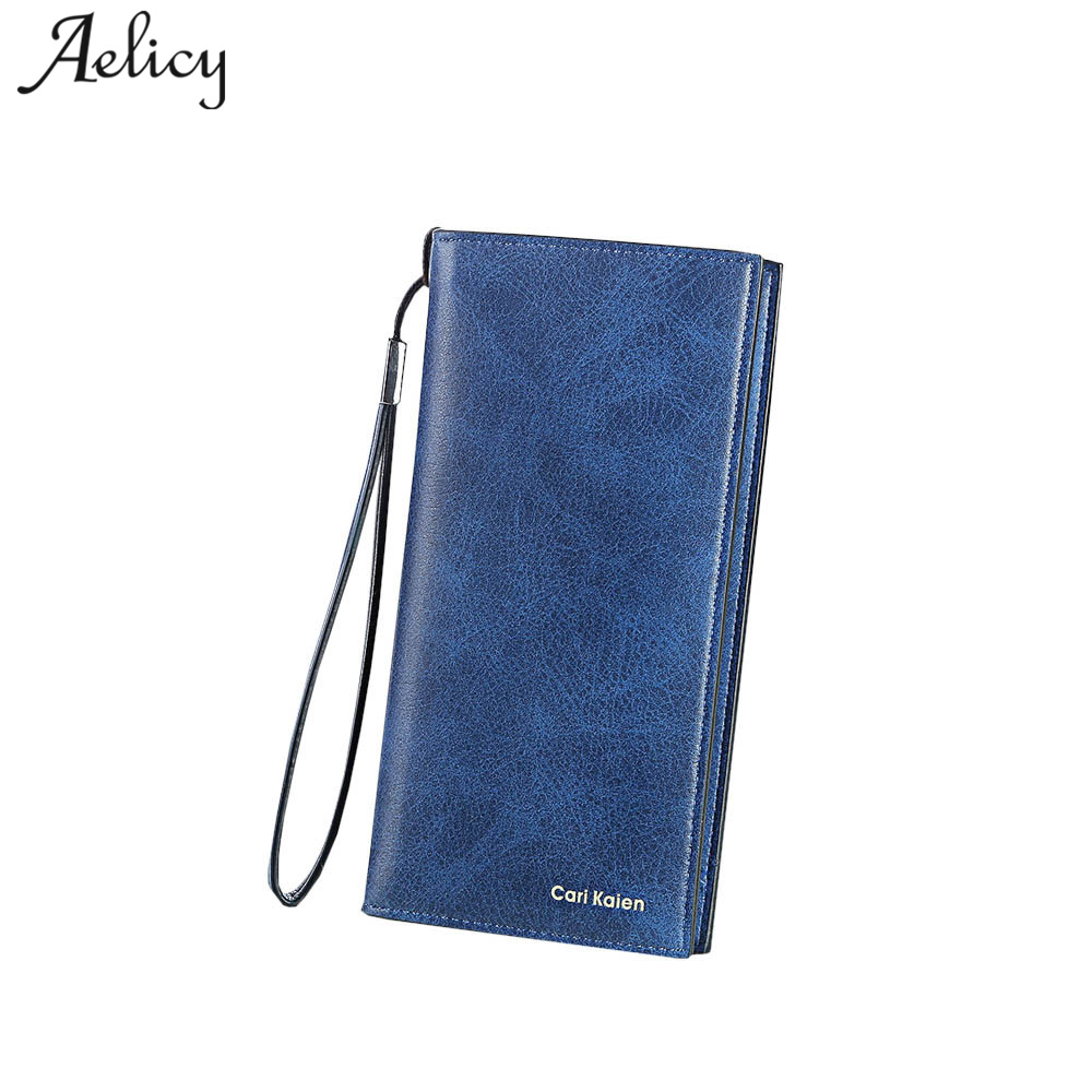 Aelicy PU Leather Fashion Men Women Wallet Leather Clutch Bags Zipper 2018 Fashion Leather Wallet Female Women Purse Long