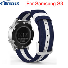 22mm Nylon Replacement watchstraps For Samsung Galaxy Watch 46mm watchband for Huami Amazfit Stratos 2 Band for Samsung Gear S3 watchbands 22mm sport silicone strap band for samsung gear s3 classic frontier replacement band for huami amazfit stratos 2 2s