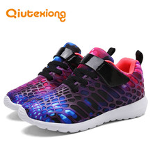QIUTEXIONG Fashion Children Shoes For Boys Girls Sneakers Kids Casual Shoes Running Sport Shoe Anti-Slippery Breathable Footwear