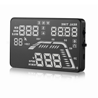 Hot sale colorful GPS function OBD 2 HUD Display Q7 5.5 Inch Heads Up Consumption Data Digital speedometer