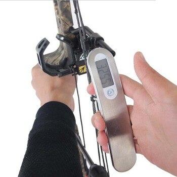 110lbs стрельба из лука портативный Электрический цифровой лук весы Соединение изогнутый лук весы может измерять пиковый инструмент тест инс...
