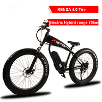 26 Inch Electric Cross Country Mountain Bike 4 0 Widening Tire 500 Motor Snow Lithium Electric