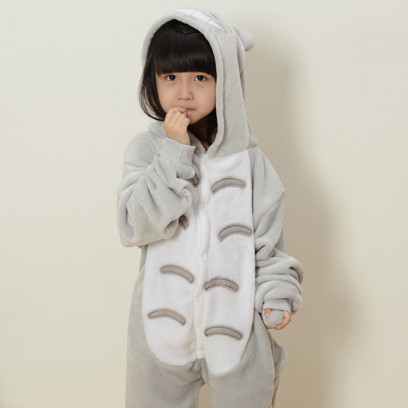 2016 new kids boys girls totoro onesies cosplay costume jumpsuit pajamas child animal cosplay pyjamas girls halloween costumes - Gir Halloween Costumes