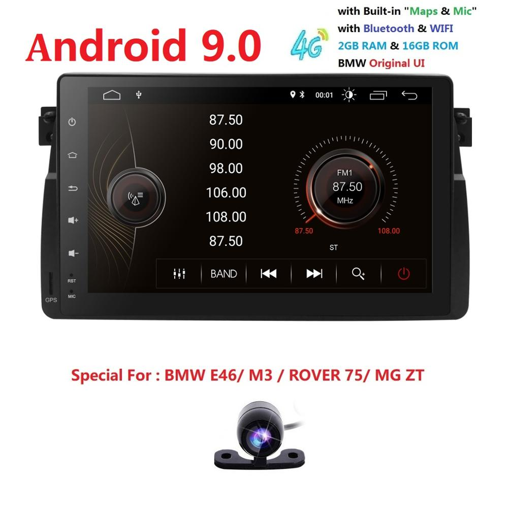 9Screen Android 9 Car Radio for BMW E46 M3 318i 320i 325i with MirrorLink No DVD auto multimedia Stereo Navi RDS DVR SWC BT SD