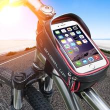 Waterproof Bicycle Bag Basket Pannier Frame Tube Handlebar Bag High Sensitive Touch Screen Double Zipper Cycling Bags