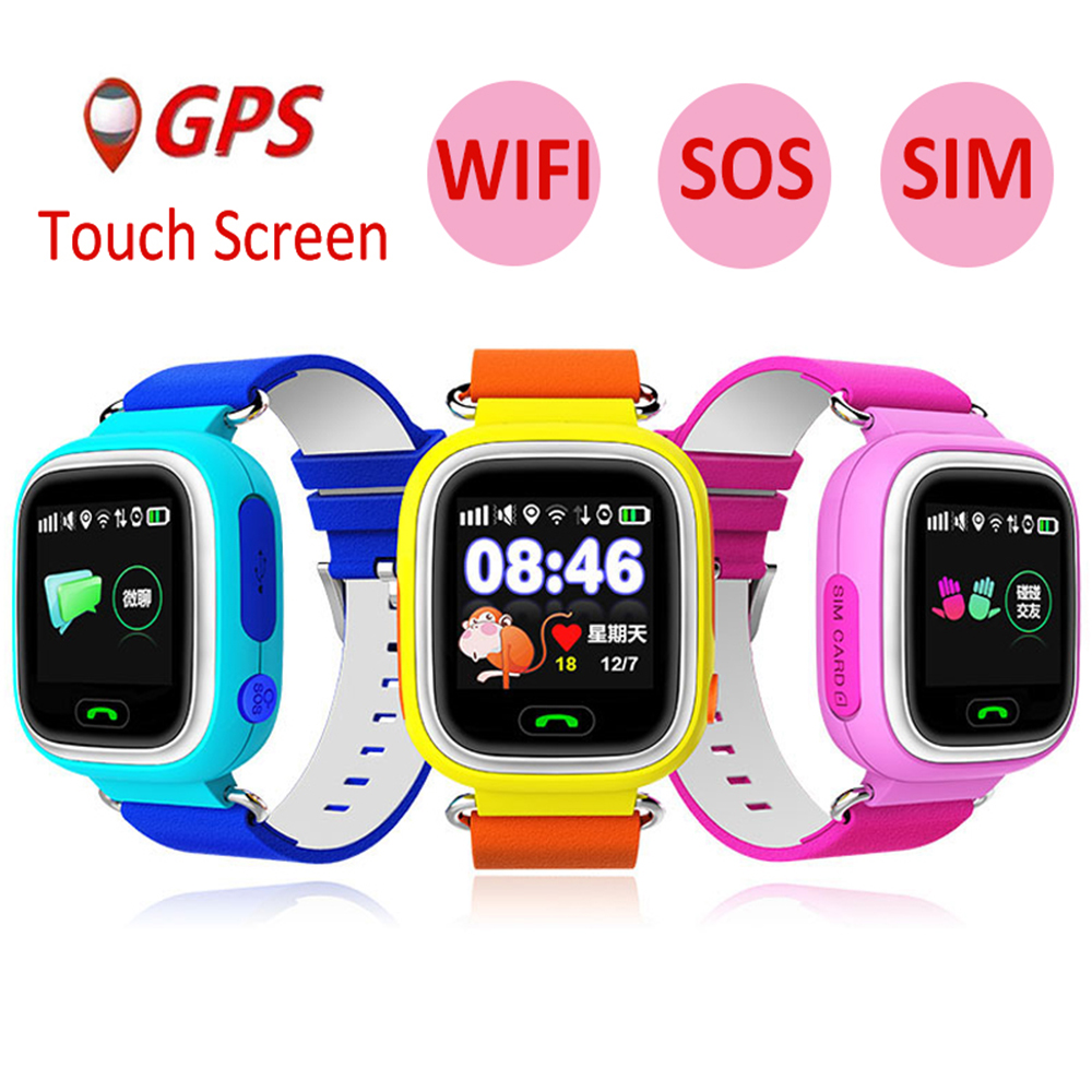 Child GPS <font><b>Smart</b></font> <font><b>Watch</b></font> <font><b>Q90</b></font> Wifi Touch Screen Children Smartwatch SOS Call Location For <font><b>Kid</b></font> Safe Anti-Lost Monitor PK Q50 Q528 Q80 image