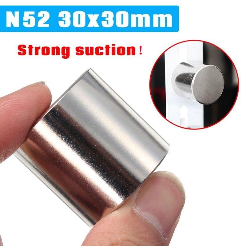 1Pcs Universal N52 30x30mm Silver Super Strong Round Circular Cylinder Magnet Rare Earth Neodymium Magnet Magnetic Materials 2 x 5mm ndfeb neodymium magnet circular cylinder diy puzzle set silver 100 pcs