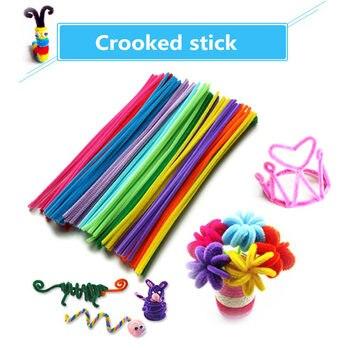 105pcs/lot bendaroos Montessori Materials Math Chenille stems Sticks Puzzle Craft Children Pipe Cleaner Educational Creative Toy 8