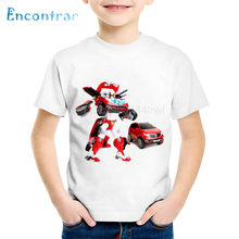 Fashion Print Tobot Kinderen Grappige T-shirts Kids Auto Speelgoed Zomer Korte Mouw Tees Jongens/Meisjes Casual Tops Baby Kleding, ooo2179(China)