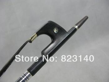1 PC 3/4 Strong Carbon Fiber Germany style double bass bow with Black Hair 4002#