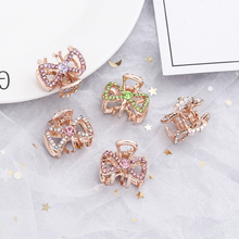 Girls bowknot Diamond Mini Multi Flower alloy Small Hair crab Claws Clips For women Cute Hairpins Headdress Accessories