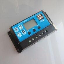 PC X Sistema Solar Controlador PWM 30A 12 V 24 V USB Display LCD 5 V Regulador Solar Kits