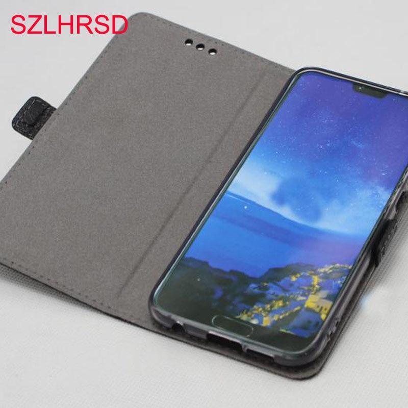 SZLHRSD Pour Huawei P20 Lite cas, 100% Véritable Couverture En Cuir de Cas Pour Huawei P20 Lite (nova 3e) Écran Protection
