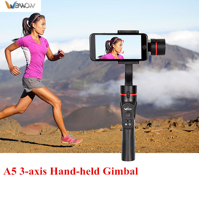 Wewow A5 3-axis Handheld Gimbal Stabalizer APP Control Phone Stabilizer Handheld Camera Stabilizer for Smartphone Android цена