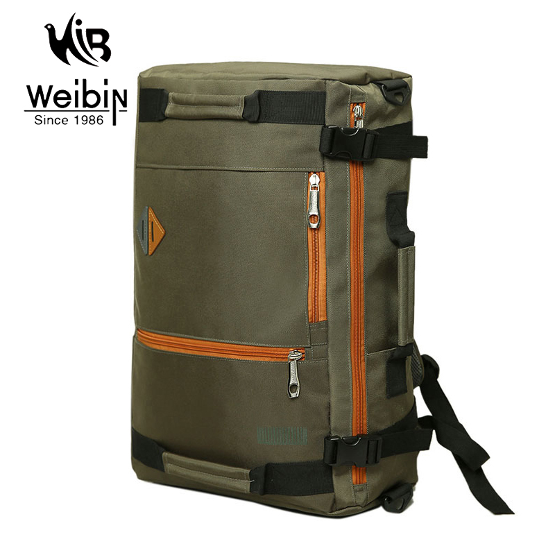 Weibin Men s font b Backpack b font Men Large Capacity Waterproof Travel Bag Black font