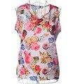 2016 moda verão Women ' s roupas Chiffon mangas Causal Chiffon blusa vestido de verão 8 cores, Frete grátis Drop Shipping