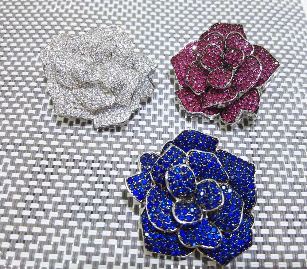 Fleur blanc bleu rouge couleur broche weholesale perles cadeau FPPJ